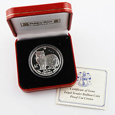 1989 Isle of Man - Persian Cat - Silver Proof - Original Government Packaging
