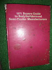 1971 Buyers Guide to Bodybuilders and Semi Trailer-Manufacturers (UK TRUCKS)
