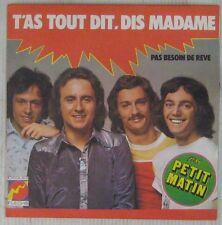 Petit Matin 45 tours Claude François Fleche