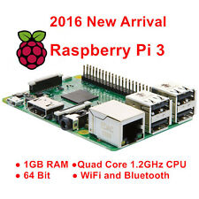 Raspberry Pi 3 Modèle B 1Go Quad Core 1.2GHz 64bit CPU WiFi & Bluetooth HDMI RCA