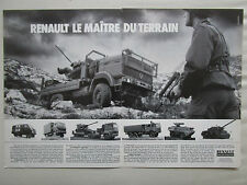 10/87 PUB RENAULT TRM 2000 4000 10000 CAMION MILITAIRE MILITARY TRUCK FRENCH AD