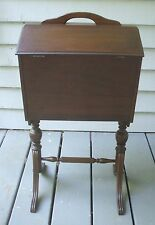 Antique Wood Floor Stand Model Sewing Notions Storage Cabinet Box Tray Original