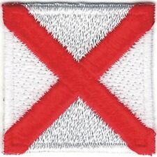 "1 1/4"" International Maritime Nautical Signal Flag Letter V Victor Patch"