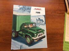 1956 GMC Trucks F 600 Series Brochure