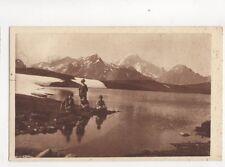Piccolo San Bernardo Lago Longet Monte Blanco Italy Vintage Postcard 169b