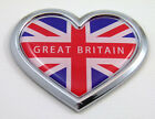 Great Britain HEART Flag Chrome Emblem Car Decal 3D Sticker Badge Bumper British