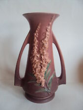 VINTAGE ORIGINAL ROSEVILLE FOXGLOVE BROWN LARGE VASE 51-10. L@@K!