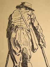 Jacques CALLOT (1592-1635)  GRAVURE HOMME GUEUX MENDIANT LORRAINE ECOLE NANCY a