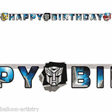 1,65 m Transformers Optimus happy birthday party Lettre Bannière Décoration