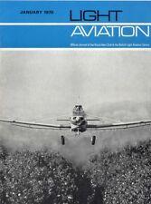 LIGHT AVIATION MAGAZINE 1970 JAN ENGLAND/AUSTRALIA AIR RACE, DR380 PRINCE