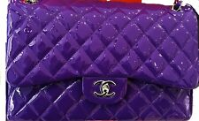 New CHANEL Jumbo Flap Bag Violet Purple, Limited Edition