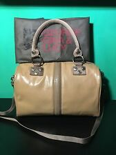 George Gina Lucy Tasche �� Tote Bag Schultertasche Beige Lack GGL MUMBLE JUMBLE
