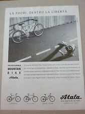 ADVERTISING PUBBLICITA' ATALA programma MOUNTAIN BIKE     -- 1990