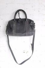 Comptoir des Cotonniers Women's Leather Black Double Strap Studded Zip Top Purse