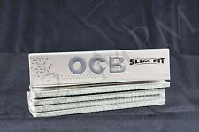5 PACKS OF AUTHENTIC OCB SILVER X-PERT SLIM FIT ROLLING PAPERS
