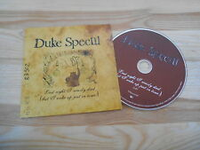CD Pop Duke Special - Last Night I Nearly Died (1 Song) Promo V2 RECORDS