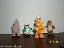 VINTAGE TEDDY RUXPIN LOT OF 4 PVC FIGURES NEWTON GIMMICK WOOLY WHAT'S-IT GRUBBY