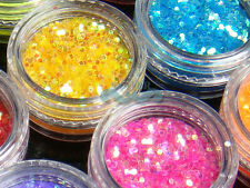 S34C-2GramsX12 Colors NailArt Spangles Hexagon Glitter acrylic system Decoration