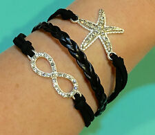 SALE Fashion Leather Charm Bracelets 12 different Styles US Seller Fast Shipping