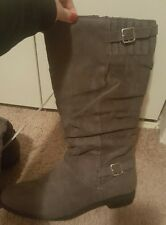 Girl's Justice Gray sweater boots  Sz 8