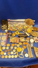 Vintage Estate Coin Knife Lighter Military Junk Drawer Lot must see look at Pics