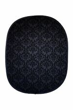 Studiohut 5'x6' Black/Black Damask Collapsible Photo Video Backdrop/Background