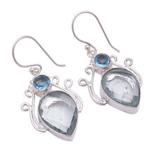 925 Sterling Silver Overlay Earrings, Handmade Gemstone Fashion Jewelry PE578