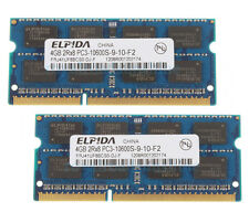 Elpida 8GB 2X4GB 2RX8 DDR3 1333MHz PC3-10600S SO-DIMM 204-pin RAM Laptop Memory