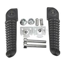 2x Black Aluminum Rear Footrests Foot Pegs For Yamaha Vmax 1200 YZF R1 R6 R6S