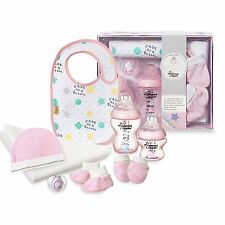 Tommee Tippee Closer To Nature Baby Girl Bottle Pacifier Bib Gift Set 0-6M
