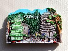 TOURIST SOUVENIR 3D Resin Travel Fridge Magnet ---- Hollywood , USA