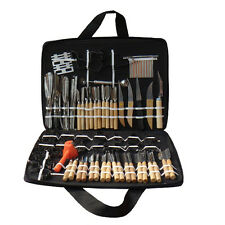 Portable 80pcs Vegetable Fruit Carving Tools Chisels Kit Food Wood Box Peeling
