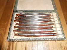 Vintage STRAIGHT RAZOR SEVEN DAY Shaving Set SOLINGEN GERMANY SOUVENIR BAGPIPER