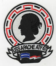 USS Apache ATF-67 Fleet Tug Boat - 5 inch FE BC Patch Cat No C6402