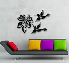 Wall Stickers Vinyl Decal Birds Flower Plant Great Home Decor (ig796)
