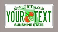 """Florida custom novelty bicycle mini license plate- name or text 4""""x9"""""""