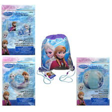DISNEY FROZEN Sling Bag Tote Backpack + Swim Ring + Arm Floats + Beach Ball NEW