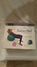 "Gaiam Total Body Balanceball Fitness Kit Size Small 5'0"" - 5'5"" in Purple"