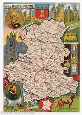 CPSM  . J.P. PINCHON. Département Français. French Geography. n° 88. Hte VIENNE