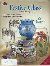 Plaid Decorative Painting Project Book 'Festive Glass' by Rachel Wright 22 Proj.
