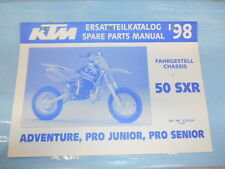 1998 KTM 50 SXR Adventure Pro Junior Senior Chassis Spare Parts Manual 320428
