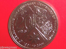 2001 Federation 20c Coin ( ACT ) PARLIAMENT FLAG UNCIRCULATED MINT CONDITION