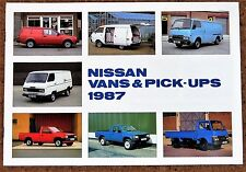 1987 NISSAN VANS & PICKUPS Sales Brochure - New Old Stock!! Vanette Urvan Trade