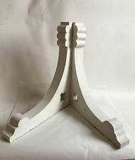 Antique Pair(2) 1890's Wood Corbels Brackets Stars Victorian Crusty White A