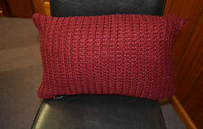 4 x Knitted Red Boudoir Filled Cushions (30x50cm)