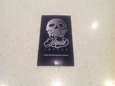 SKULL GRAPHICS DANGER  STICKER- FORD TOYOTA MAZDA STAHWILLE KINCROME HONDA