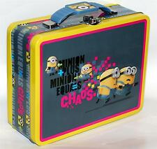 "DESPICABLE ME MINIONS 6"" x 7-3/4"" Tin Tote WORK HOBBY TOOL SNACK LUNCH BOX B New"