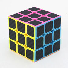 3x3x3 Carbon Fiber Twist Puzzle Ultra-smooth Magic Cube Speed Rubik Kids Game