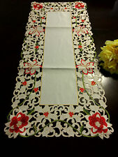 16'x36' Embroidered Christmas Tablecloth Table Runner Home Party Decor
