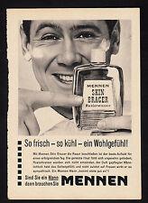 3w2272/ Alte Reklame von 1960 - MENNEN Rasierwasser